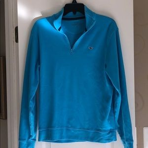 Vineyard Vines Quarter Zip Top Tee blue Small